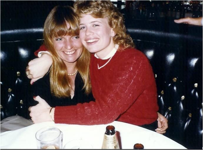 My sister Debbie & me