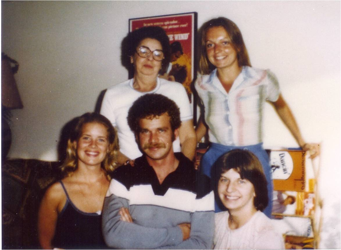 My siblings & me with my grandmother