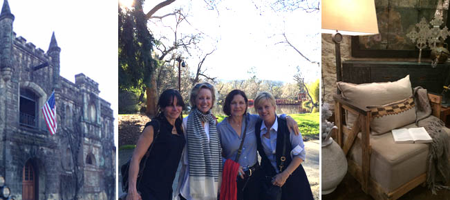 The Chateau Montelena castle and shopping in St. Helena