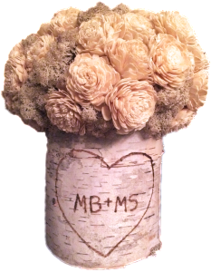 """The """"tree trunk"""" with our initials I gave Michael one year still has a prominent place in our house."""