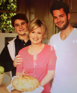 With my boys when I first started Mary Beth's Apple Pie Co.