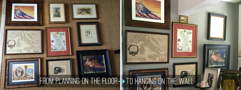 How to hang collections