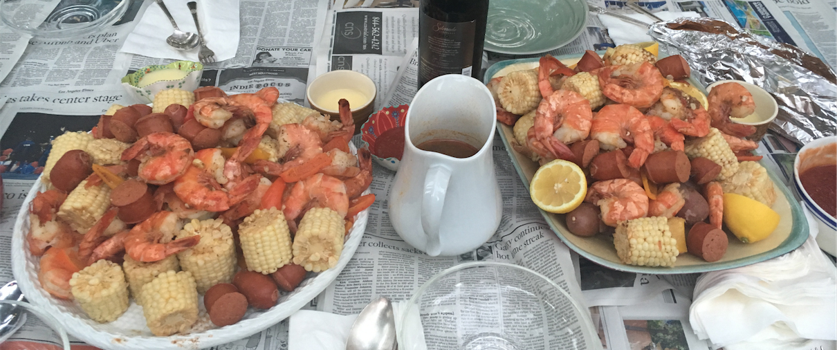 Summer Seafood Boil - Frogmore Stew