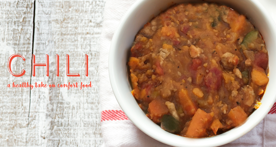 Comfort Food: Healthy Sweet Potato Chili