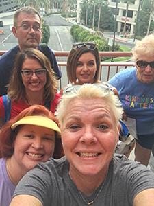 Nancy with some fellow Steve & Kayla fans