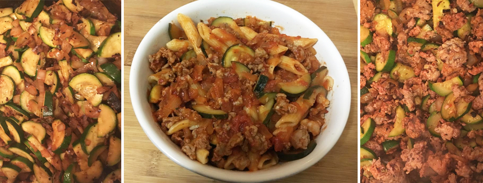 Zucchini & Sausage Penne Pasta