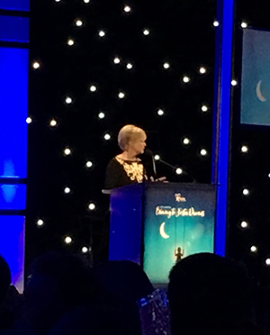 Mary Beth Evans receives the Robert Morrison Community Services Award from CASA Los Angeles