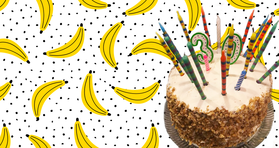 Celebrating 30 years with Banana Cake