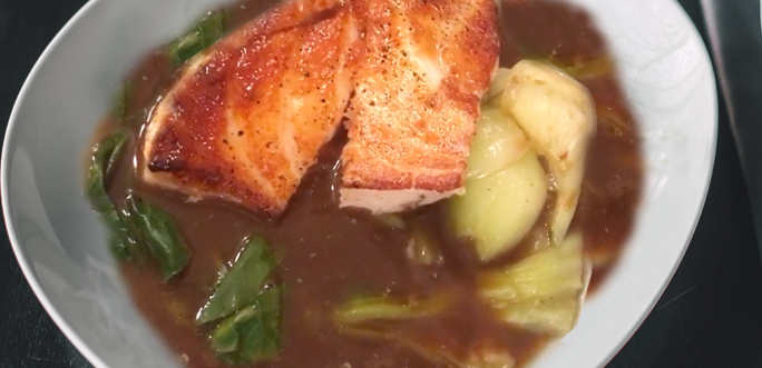 Fish in Asian Broth