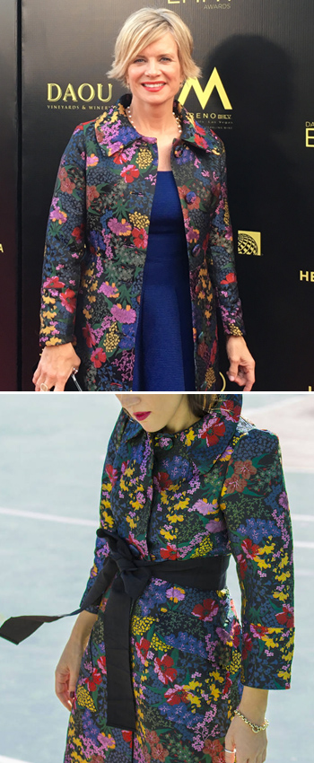 My Emmys H&M coat vs. what it looked like originally